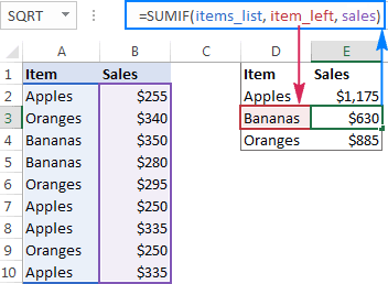 Excel named range - How to define and use names in Excel