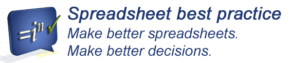 Better spreadsheets. Better decisions.