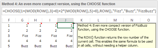FizzBuzz in Excel